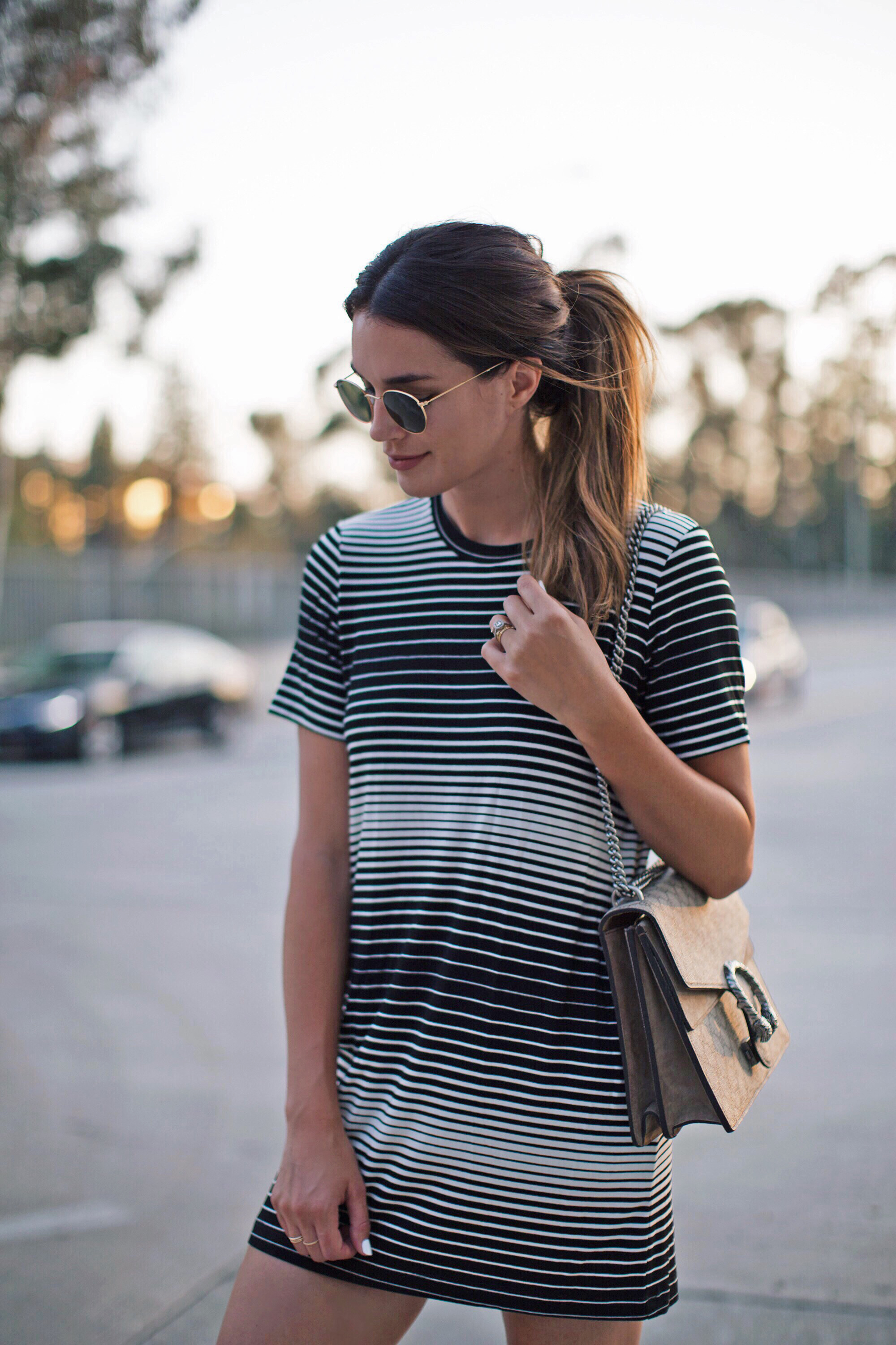Striped Shirt Dress Brittany Xavier