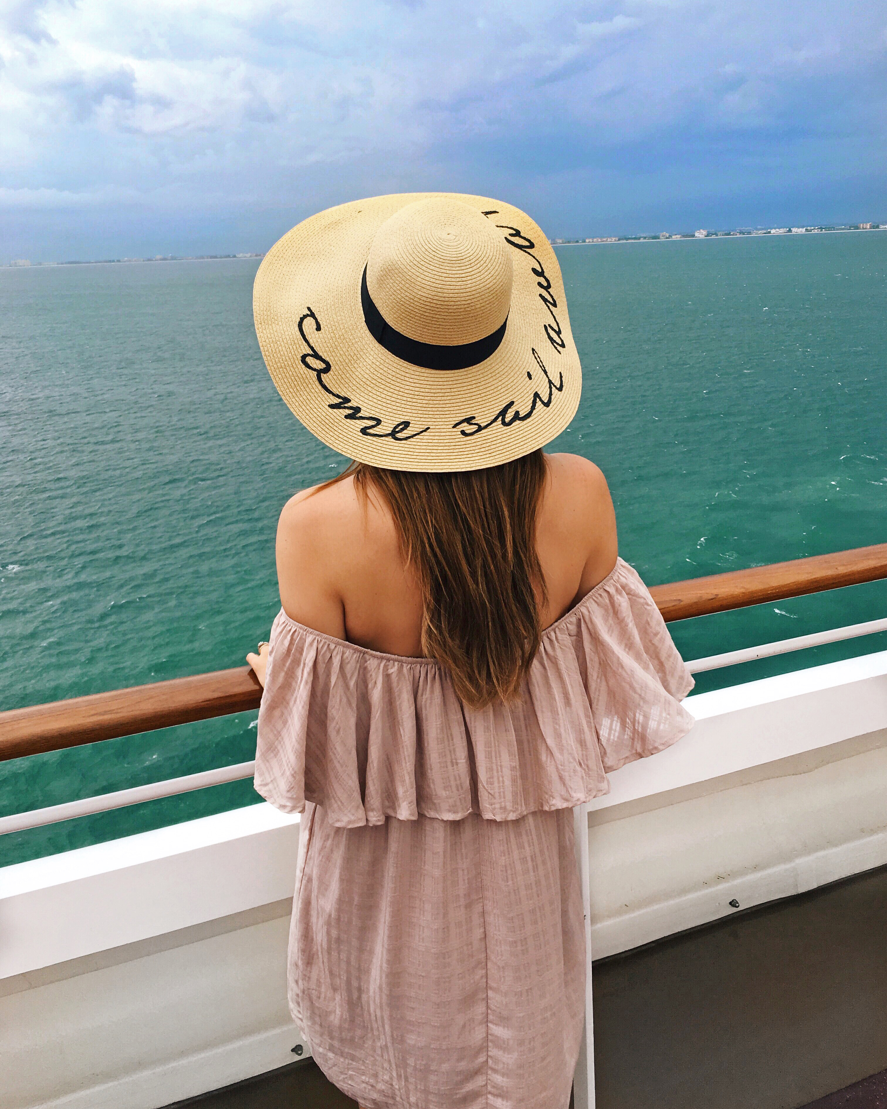 Come Sail Away Straw Hat