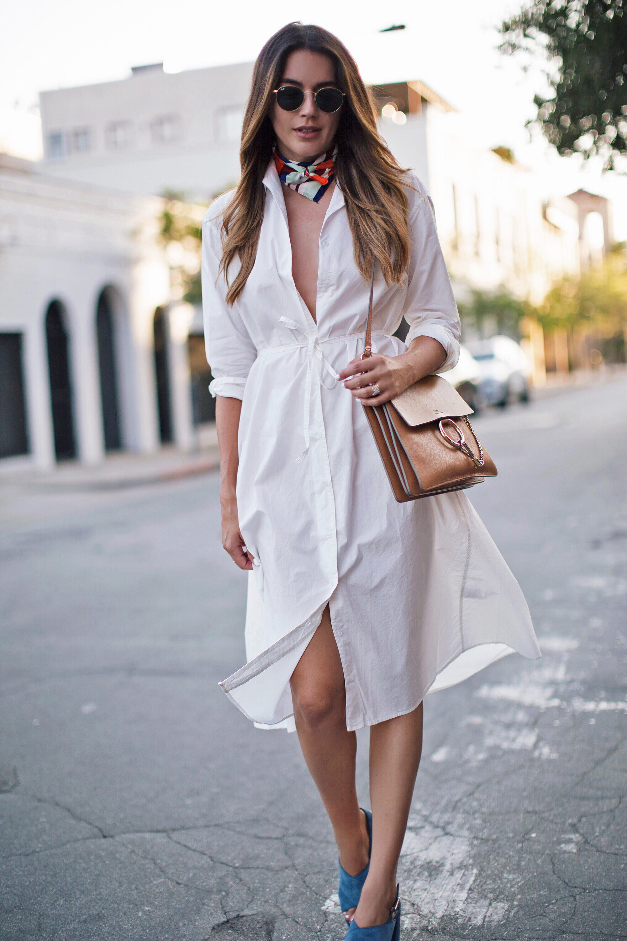 Neck Scarf Street Style