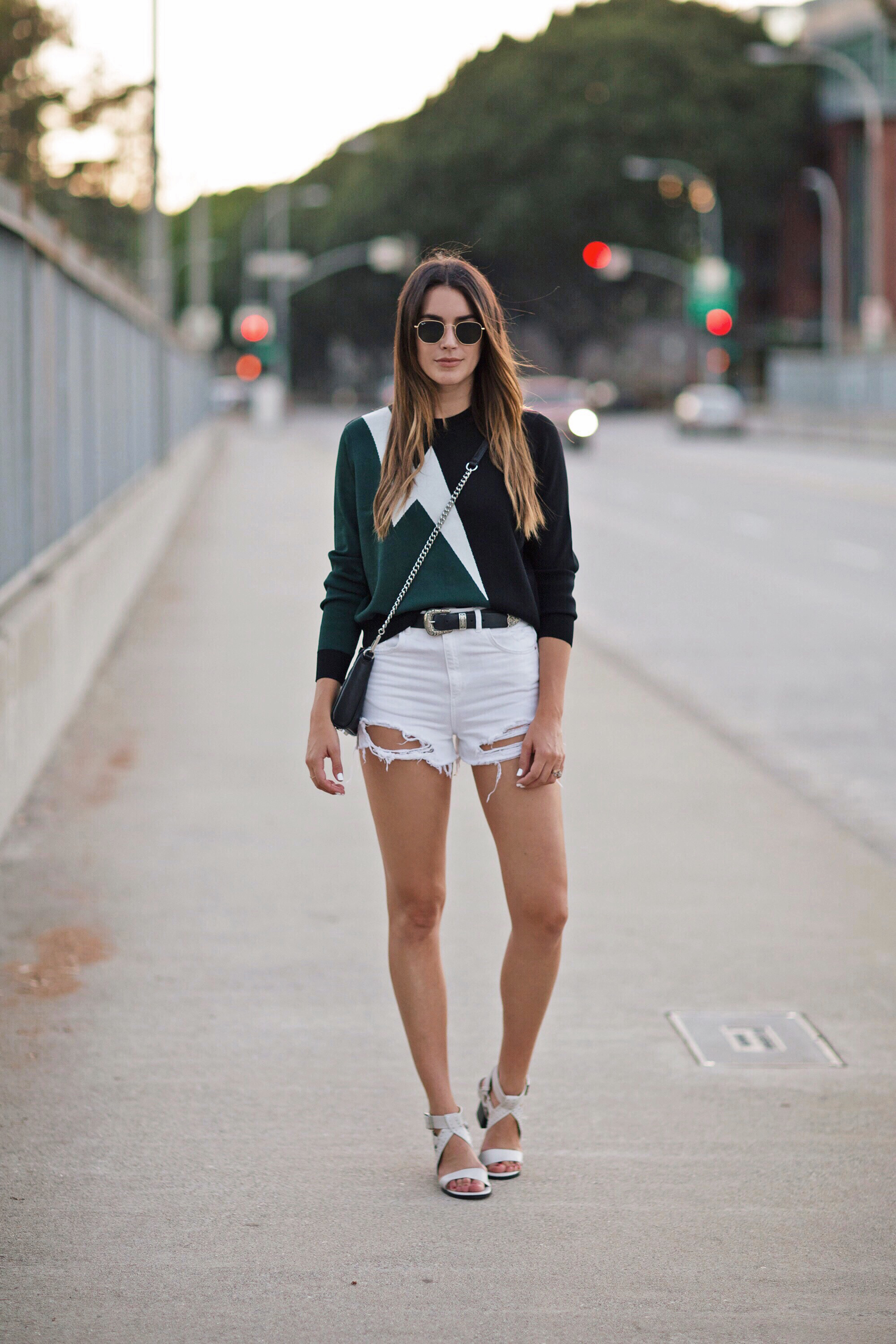 White Cutoff Jean Shorts