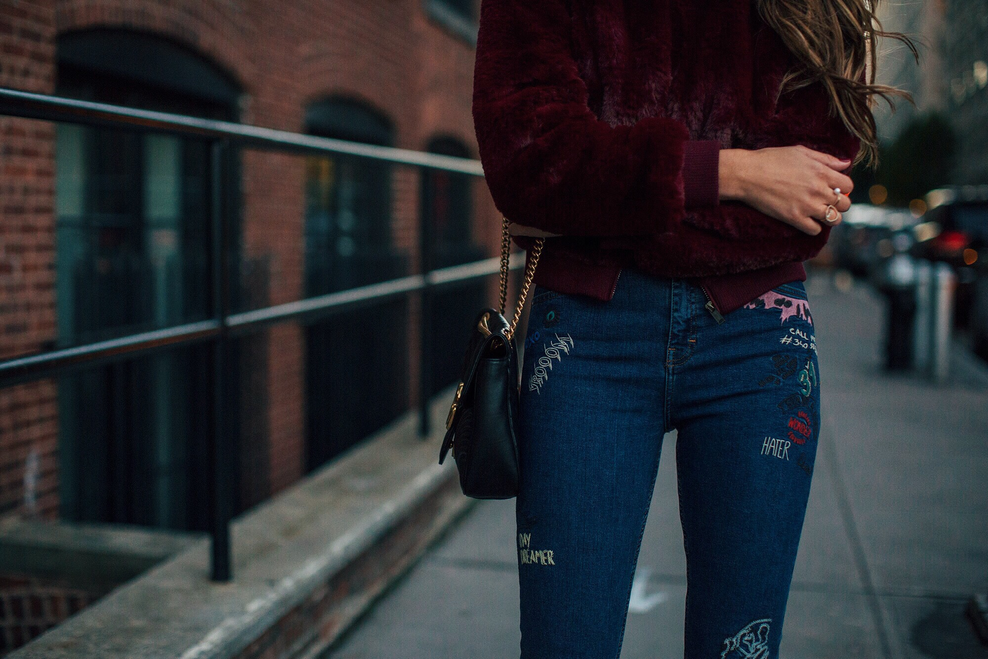 Topshop Embroidered Jeans brittanyxavier.com