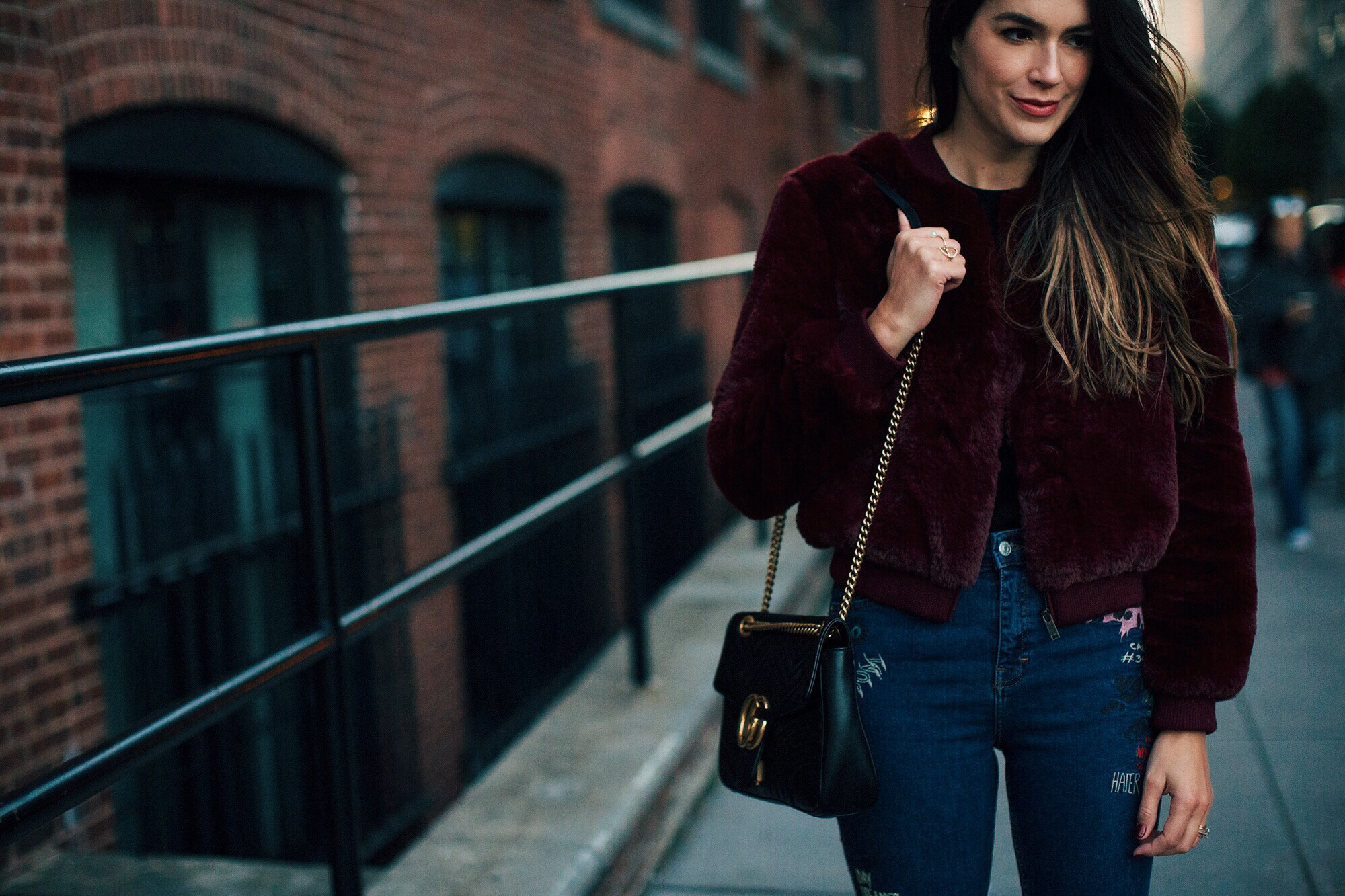 Topshop Embroidered Jeans Brittany Xavier