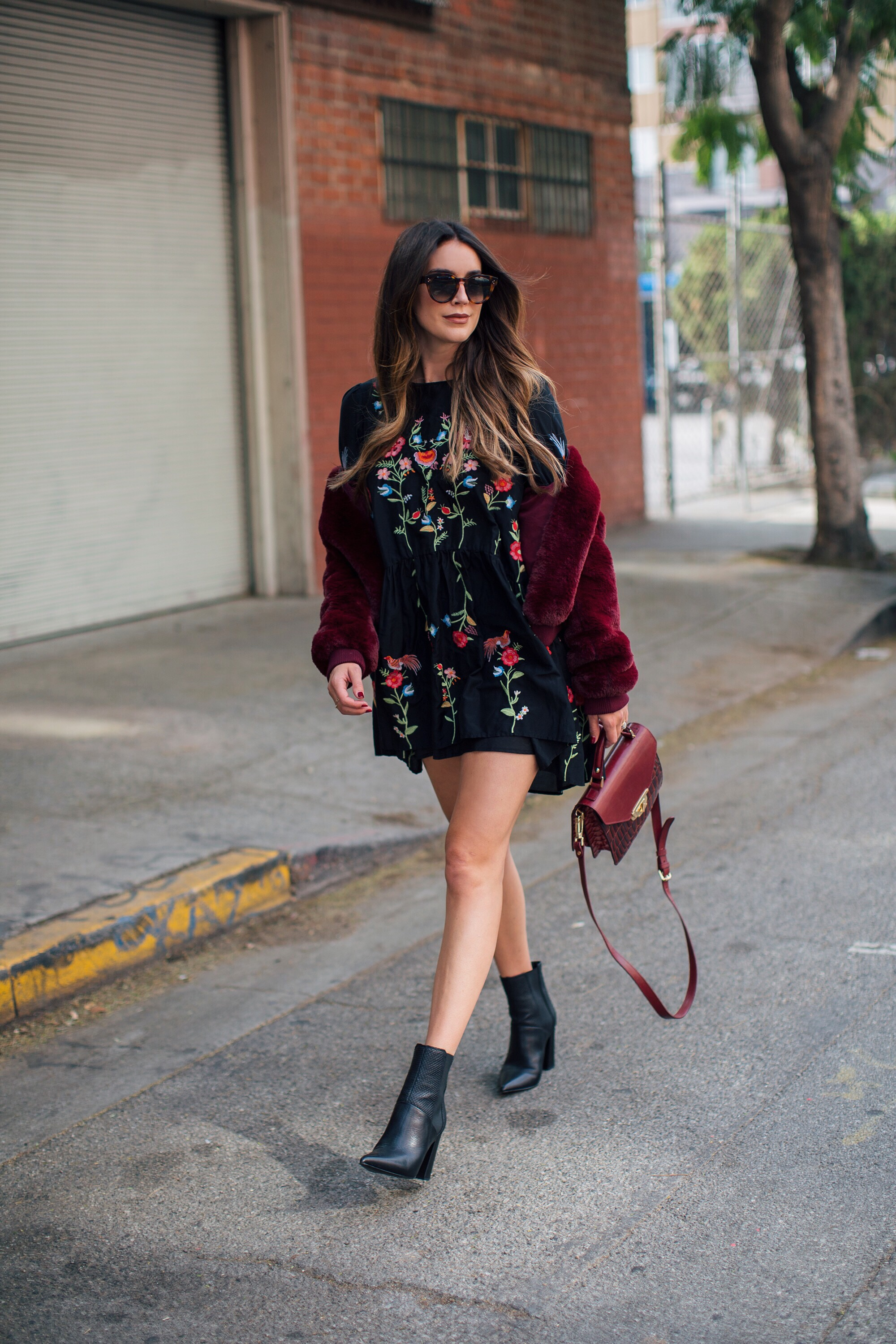 Brittany Xavier Embroidered Dress