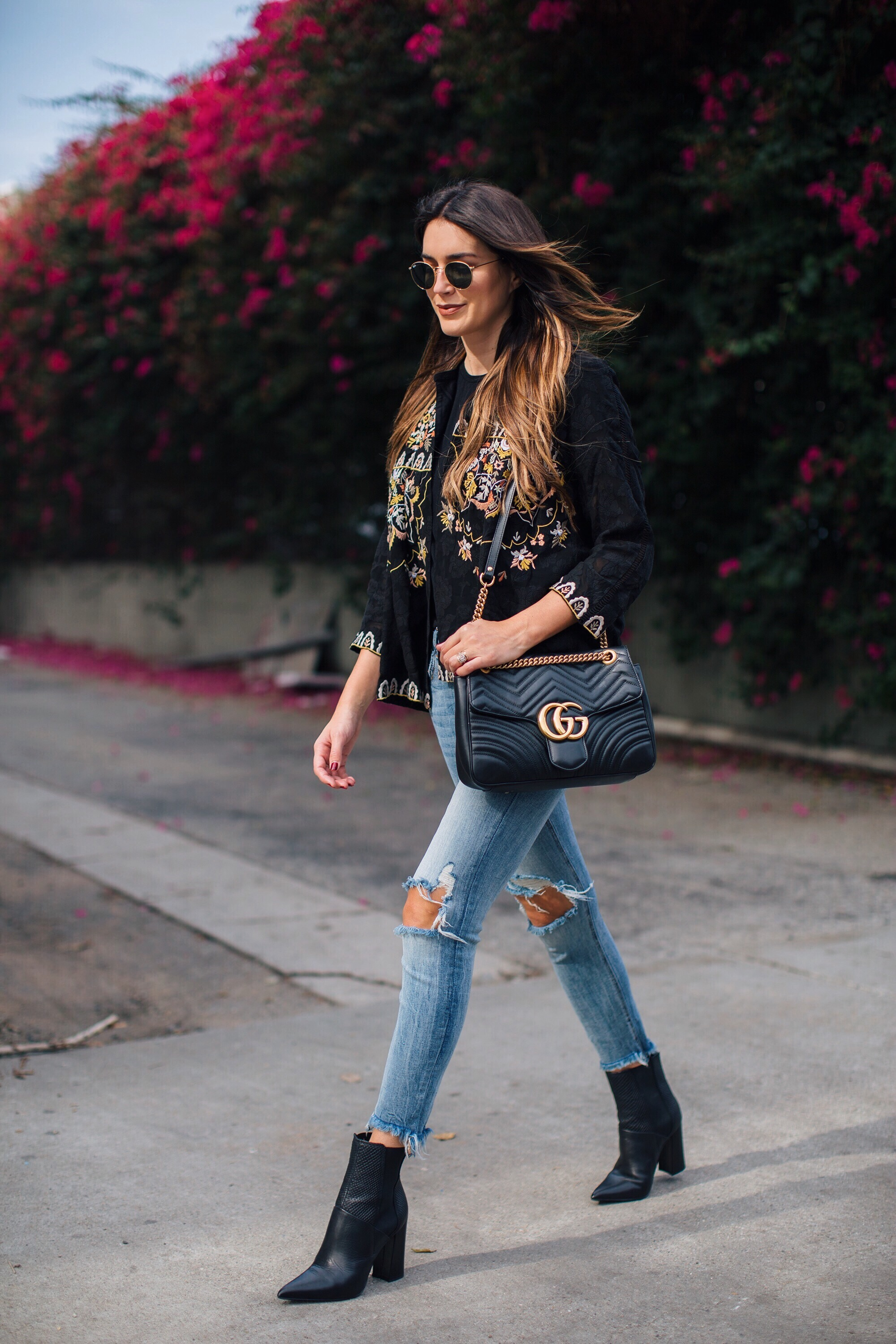 LA Fashion Blogger Floral Embroidery