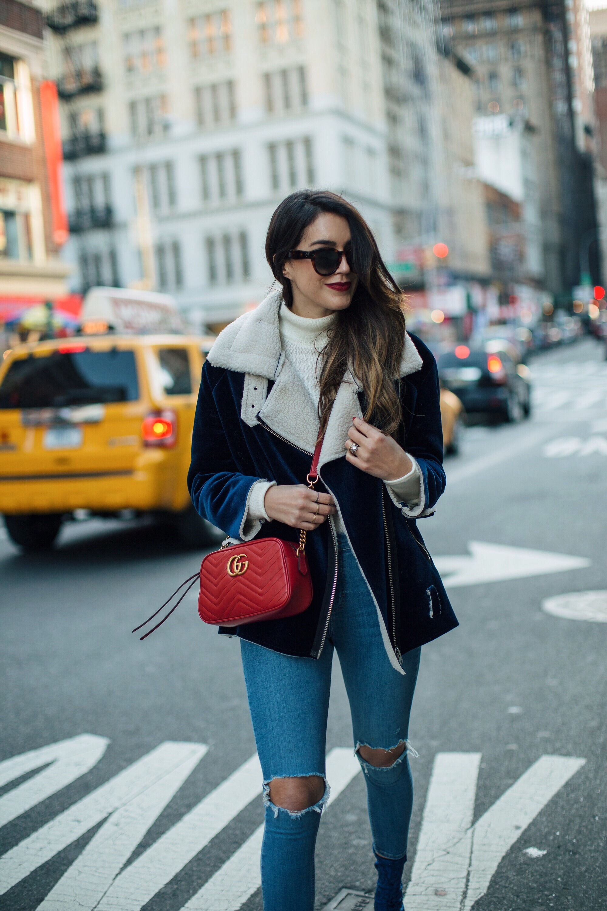 Gucci Small Marmont Red Crossbody