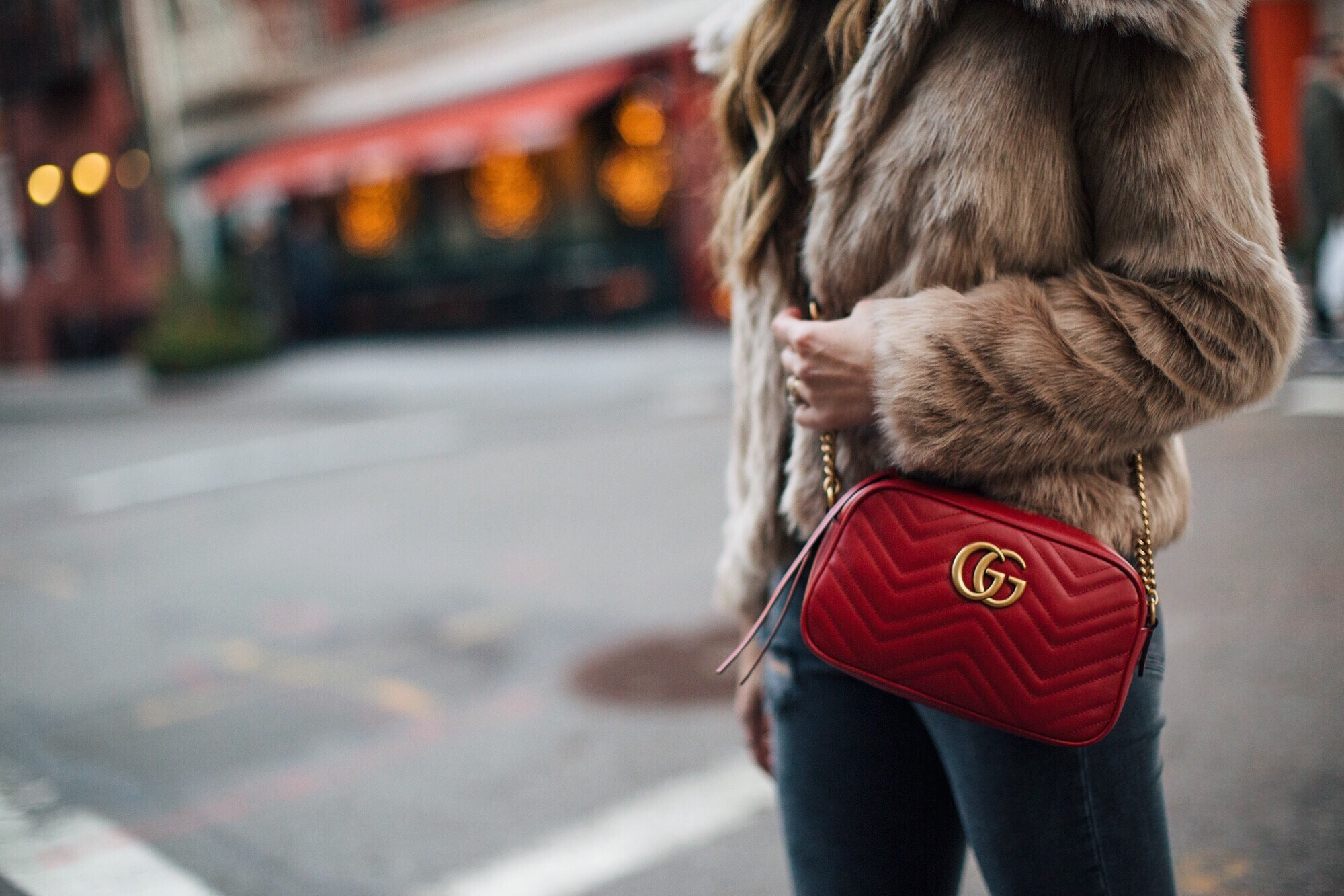 Red Gucci Marmont