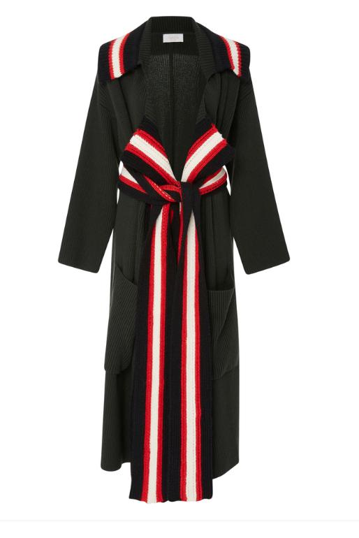 ribbon coat
