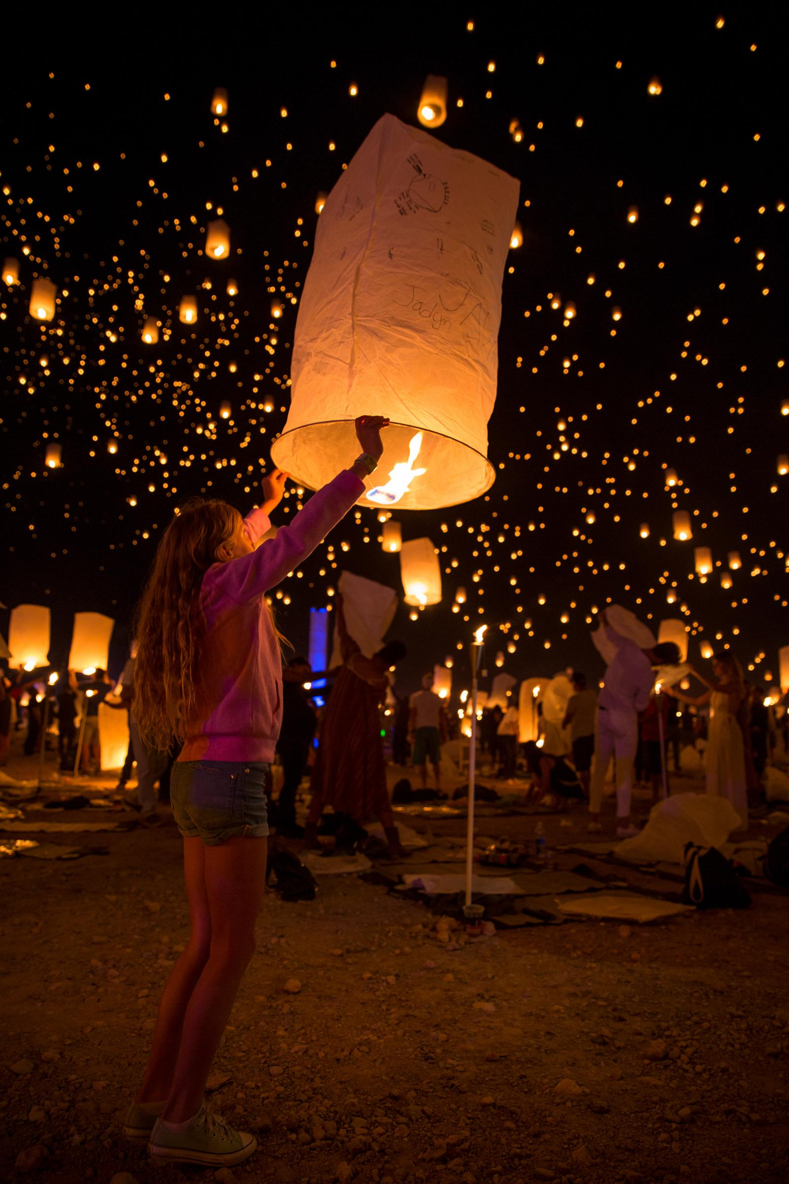 rise festival lantern lights