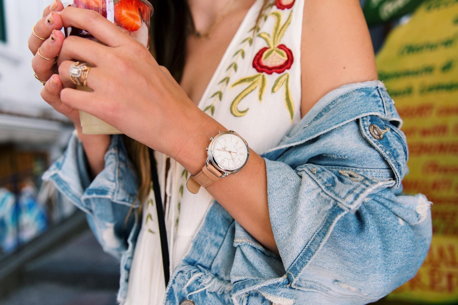 brittany xavier fossil q hybrid watch