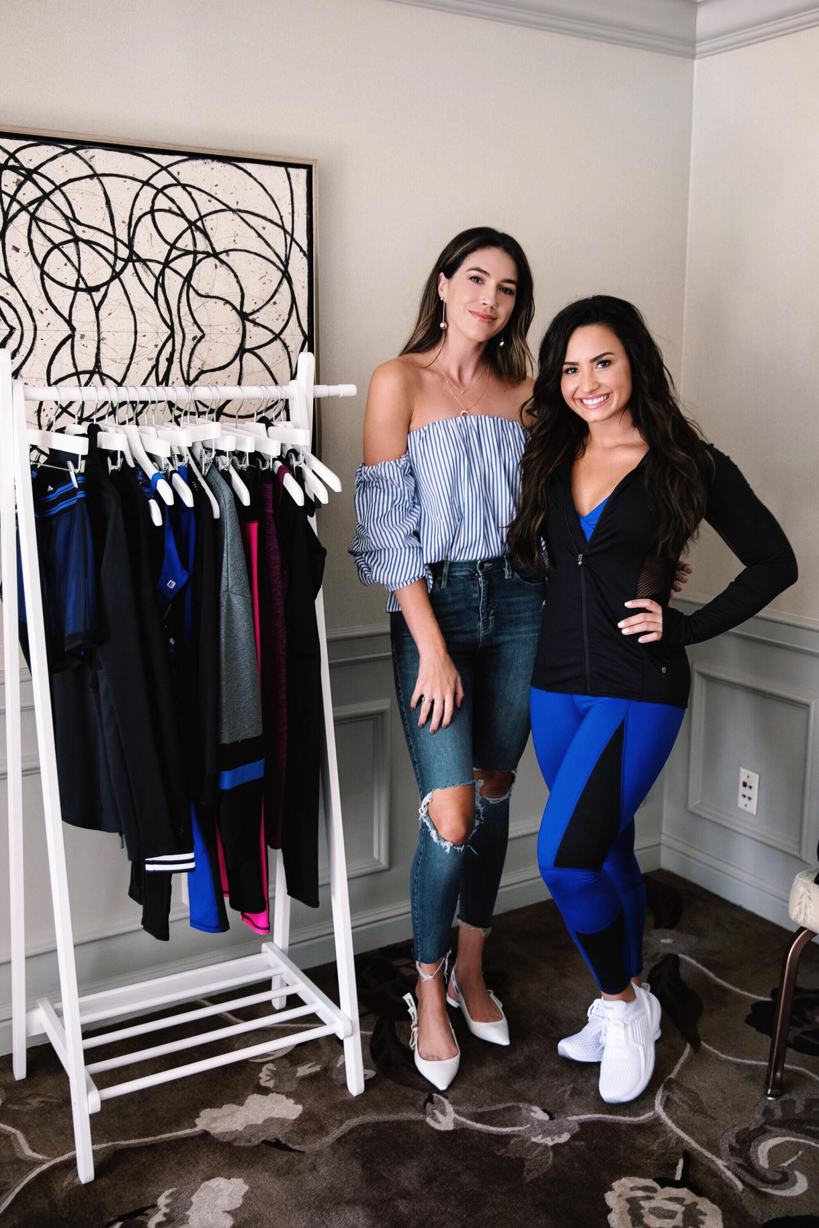 My Interview with Demi Lovato   Thrifts and Threads Kate Hudson Fabletics